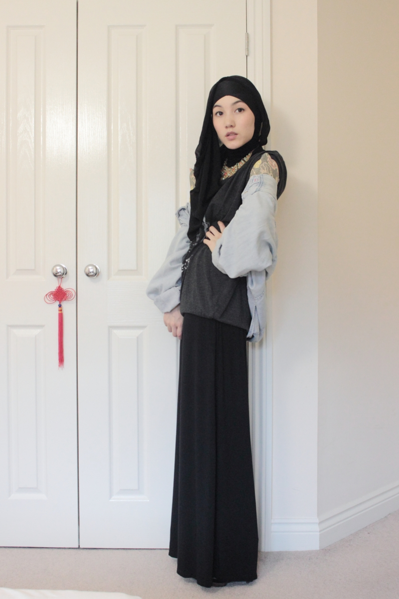 Working on hana tajima s style walk with confident Hijab fashion style hana tajima