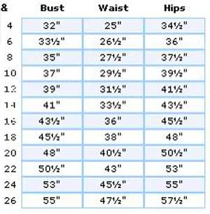 If you're on the borderline between two sizes, order the smaller size for a tighter fit or the larger size for a looser fit. If your measurements for bust and waist correspond to two different suggested sizes, order the size indicated by your bust measurement.